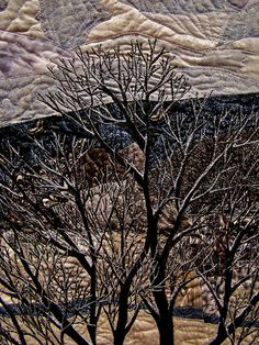 art quilt from godutchbaby flickr photostream. detail of winter landscape quilt.