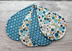 Set of 4 Raindrop Coasters - Fabric Coaster Set £15.00