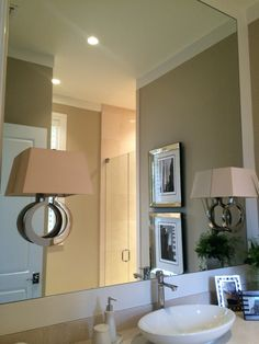 *instructions on installing vanity lights through mirror* Vanity Mirror with Sconces - The Glass Shoppe