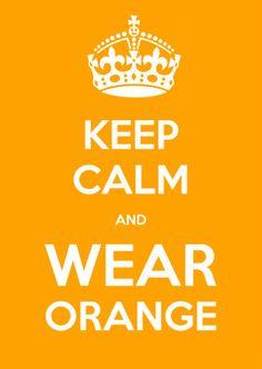 Keep Calm and WEAR ORANGE - Uitnodigingen - Kaartje2go