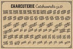 Check out Charcuterie Catchwords by L_Worthington on Creative Market