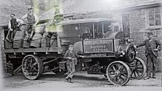 Soulby Sons and Winch.Brewers of Alford.   A Clayton Shuttleworth steam wagon delivering beer. A reflective photo I took of a picture hanging in the Red Lion at Revesby.They have a lot of photos of old drays and traction engines hung on the wall in the restaurant.They do good diners in there at reasonable prices.Situated on the A155 half way between Coningsby and East Kirkby. re photo'd by Alan Farrow original photographer not known.