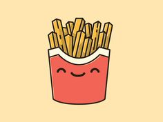 Happy Fries shared via https://chrome.google.com/webstore/detail/design-hunt/ilfjbjodkleebapojmdfeegaccmcjmkd?ref=pinterest