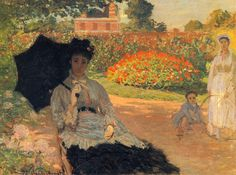 1873 - Camille Monet in the Garden - Claude Monet