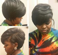 African American short layered bob haircut