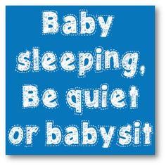 Baby Sleeping Blue