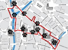 Bruges Map Tourist Attractions TravelBrugge Pinterest