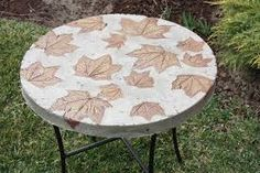 countertop with concrete leaf design - Google Search