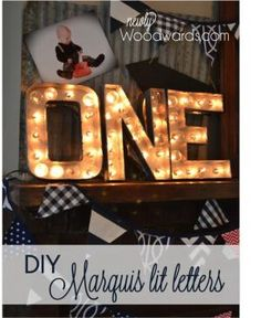 Make DIY Marquis lit letters from cardboard craft store letters. Simple, cheap and a great impact! by amparo
