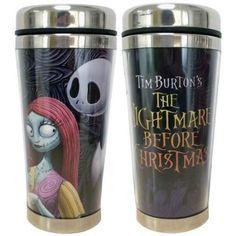Amazon.com | Tim Burtons the Nightmare Before Christmas Jack and Sally Coffee and Travel Mug Set: Cups, Mugs & Saucers