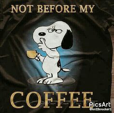Snoopy gots it right Snoopy Love, Snoopy And Woodstock, Peanuts Cartoon, Peanuts Snoopy, I Love Coffee, My Coffee, Morning Coffee, Coffee Mornings, Coffee Time