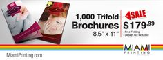 2Full Color Brochures 1000 $179.99 http://miamiprinting.com/brochures