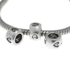 5 Herz European Beads 8x5mm Fädelloch 4,75mm mit Herzen Perlen silber | Fädelloch ab 4mm | Zwischenperlen | Bacabella.com | Perlen, Schmuck und Schmuckzubehör zum Schmuck selber machen | Schmuck basteln DIY DoItYourself | ganz individuell und einfach | Schmuckperlen