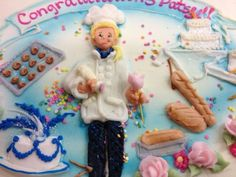 Culinary school graduate cake