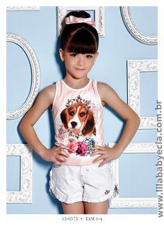 Blusa Infantil e Shorts Miss Cake Doce Princesa 530373 - Lila Baby e Cia Moda Infantil