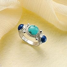 Classical Lapis & Turquoise Ring