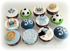 Man city cupcakes