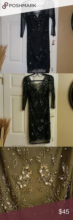Beyond Beautiful formal dress! Another beautiful dress from my boutique. It is absolutely gorgeous and offered at an amazing price. Ladies, I closed my boutique and I'm bringing the remaining inventory to you here. It's a Patra and labeled as a size 12, however, this line runs small. This is dress is suited for a size 6 or 8. Fabulously adorned with lovely sequence. Showcase it! Patra Dresses Midi