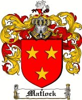 Matlock Family Crest English Coat of Arms