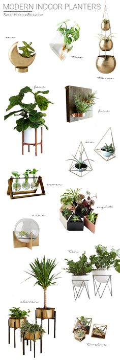 House garden modern etsy 18 ideas for 2019 Potted Plants Patio, House Plants Decor, Indoor Planters, Diy Planters, Plant Decor, Modern Planters, Farm Landscaping, Landscaping Software, Mosquito Repelling Plants