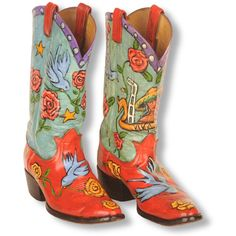 Hand-painted boots by Teri Freeman....I want someone to paint my boots....who do I call?