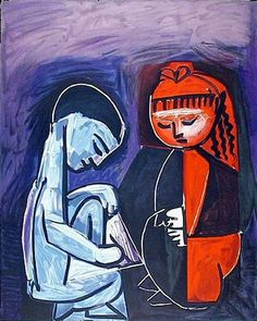 """Pablo Picasso - """"Two children Claude and Paloma"""", 1952"""