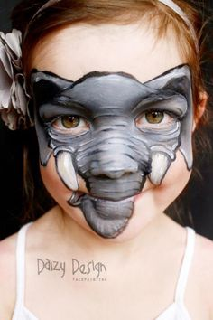 Turning kids into other creatures with colorful, creative face paintings pics] is part of children Face Art - Some of face and body painter Christy Lewis's work on kids… Animal Face Paintings, Animal Faces, Childrens Makeup, Elephant Face, Kids Makeup, Face Painting Designs, Too Faced, Costume Makeup, Pictures To Paint
