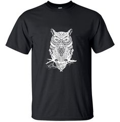 new fashion 2016 summer streetwear men's cotton t-shirt OWL anime animal printed t shirt homme men brand solid casual - Owl Stuff Owl Stuff