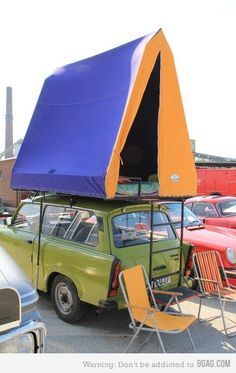 Creative use of camping space!