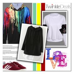 """Color me crazy"" by angel-a-m on Polyvore featuring adidas and twinkledeals"