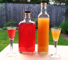 Rhubarb-Orange Gin 2 c. chopped Rhubarb (I used frozen, but fresh would be fine) 2 TB Orange Liqueur (triple sec, Cointreau, etc.) Zest of One Orange 2 c. Gin c. Rhubarb Cocktail, Rhubarb Gin, Rhubarb Syrup, Homemade Alcohol, Homemade Liquor, Homemade Liqueur Recipes, Fun Drinks, Yummy Drinks, Alcoholic Drinks