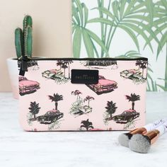 9412e970ca64 Looking for travel accessories  This persoanlised pretty pink make up bag  is the perfect holder
