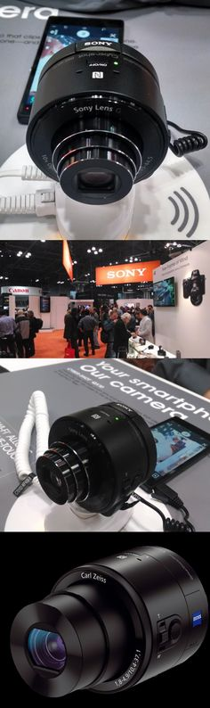 """The aptly named @Sonja T Champness Electronics """"smartphone attachable lens-style cameras"""" combine high-quality optics and Wi-Fi to bring high-end photography to smartphones. Your phone wirelessly connects to the camera, handles all controls and serves as the viewfinder."""
