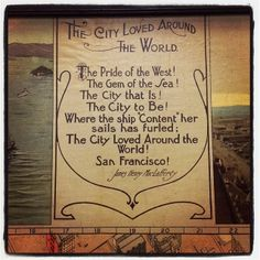 The City Loved Around the World! The Pride of the West! Map inscription, 1910. #sfhistorycenter #maps #sfplbackinthestacks #sanfrancisco