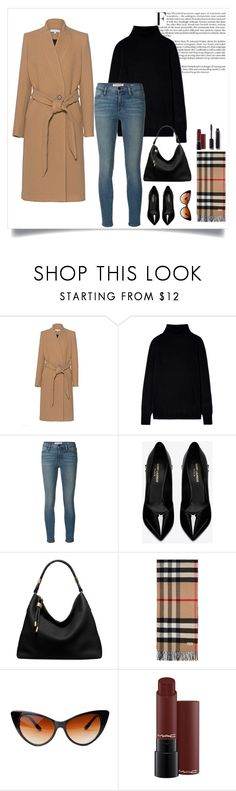 """Untitled #42"" by mayadh-alshehri ❤ liked on Polyvore featuring IRO, Frame Denim, Yves Saint Laurent, Michael Kors, Burberry and Chanel"