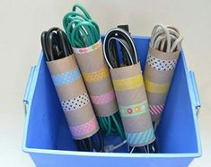 12 brilliant tricks you can do with toilet paper rolls that work wonders in daily life DIY All in One Paper Organization, Office Organization, Dorm Hacks, Dorm Tips, Ideas Prácticas, Room Ideas, Storage Hacks, Rv Storage, Storage Units