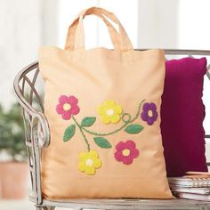 Craftways® Colorful Flowers Tote Bag Punch Needle Kit Was: $34.99    Now: $29.99