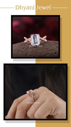 Emerald Cut Moissanite, Moissanite Diamond Rings, Emerald Cut Rings, Emerald Cut Diamonds, Gold Rings For Sale, Promise Rings, Unique Rings, Diamond Engagement Rings, Silver Rings