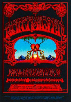 "Professor Poster sez: ""It was 46 years ago on this day back in 1968, that The Quicksilver Messenger Service, Kaleidoscope and Charlie Musselwhite played for three nights at the Avalon Ballroom"" in San Francisco.  Poster by Rick Griffin.  Thanks for sharing, Professor."