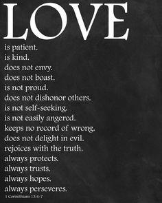 printable scripture verses | Printable Love Is Bible Verse Scripture