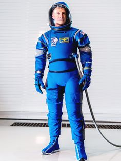Boeing's New Spacesuit May Look Stylish as Hell, But It's All Business | Boeing's new spacesuit will be worn on missions to the International Space Station beginning in 2018. | Credit: Boeing | From Wired.com