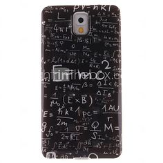 0a86f275c6d USD $ 3.99 - functie formule ontwerp TPU imd soft cover voor Galaxy noot 3  Samsung