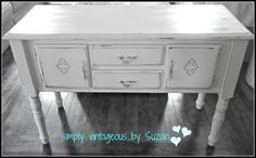 Sideboard before and after - ASCP Old White
