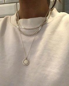 January 09 2020 at fashion-inspo Jewelry Trends, Jewelry Accessories, Fashion Accessories, Silver Necklaces, Silver Jewelry, Chain Necklaces, Silver Chain Necklace, Diy Necklace, Turquoise Jewelry
