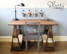 Diy Sawhorse Desk For $50