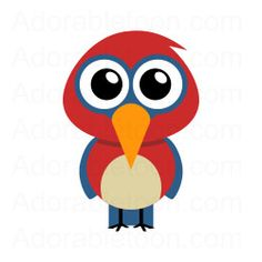 Cute parrot clipart from Adorabletoon.com