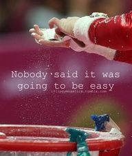 Being a gymnast isn't as easy as at seems.