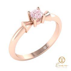 Inel din aur cu diamant roz ES26 Aur, Engagement Rings, Jewellery, Model, Design, Fashion, Enagement Rings, Moda, Wedding Rings