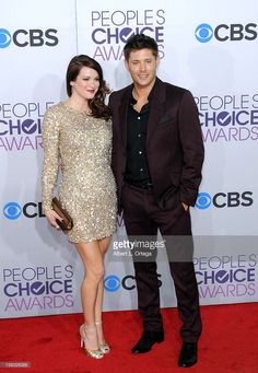 Actress Danneel Harris and actor Jensen Ackles arrive for the 34th Annual People's Choice Awards - Arrivals held at Nokia Theater at L.A. Live on January 9, 2013 in Los Angeles, California.