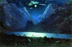 Архип Куинджи 'Дарьяльское ущелье. Лунная ночь' 1890 - 1895
